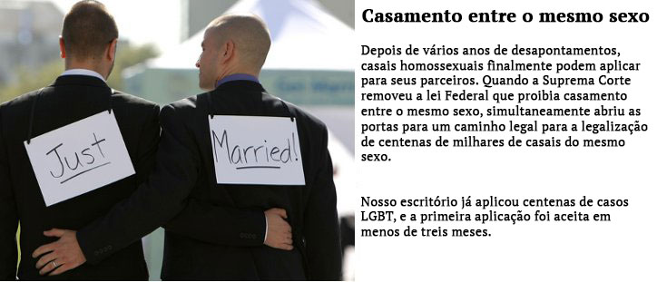 Advogados de casamento do mesmo sexo
